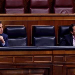 El presidente del Gobierno, Pedro Sánchez, y el vicepresidente segundo, Pablo Iglesias