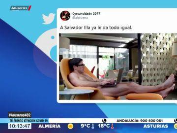 ¿Es el ministro Salvador Illa desnudo? La fotografía de Netflix que ha sembrado la duda