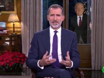 Vídeo Manipulado - El rey emérito se cuela en el discurso de Nochebuena de Felipe VI