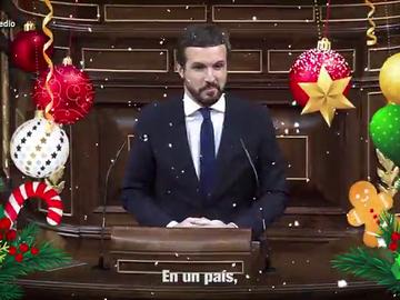 """""""¿Tanto les cuesta celebrar la Navidad en un país occidental?"""": el villancico con el que Casado anima a felicitar las fiestas"""