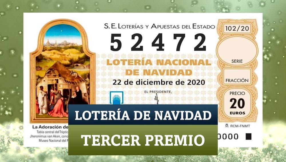 El tercer premio de la Lotería de Navidad 2020