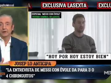 """Pedrerol: """"La entrevista de Évole a Messi dará para tres o cuatro chiringuitos"""""""