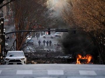 La imagen que deja la explosión de un coche bomba en Nashville