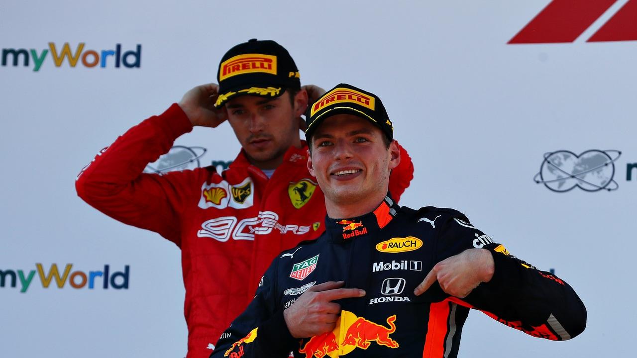 Charles Leclerc y Max Verstappen