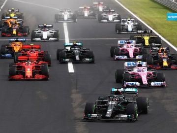Salida del GP de Hungría