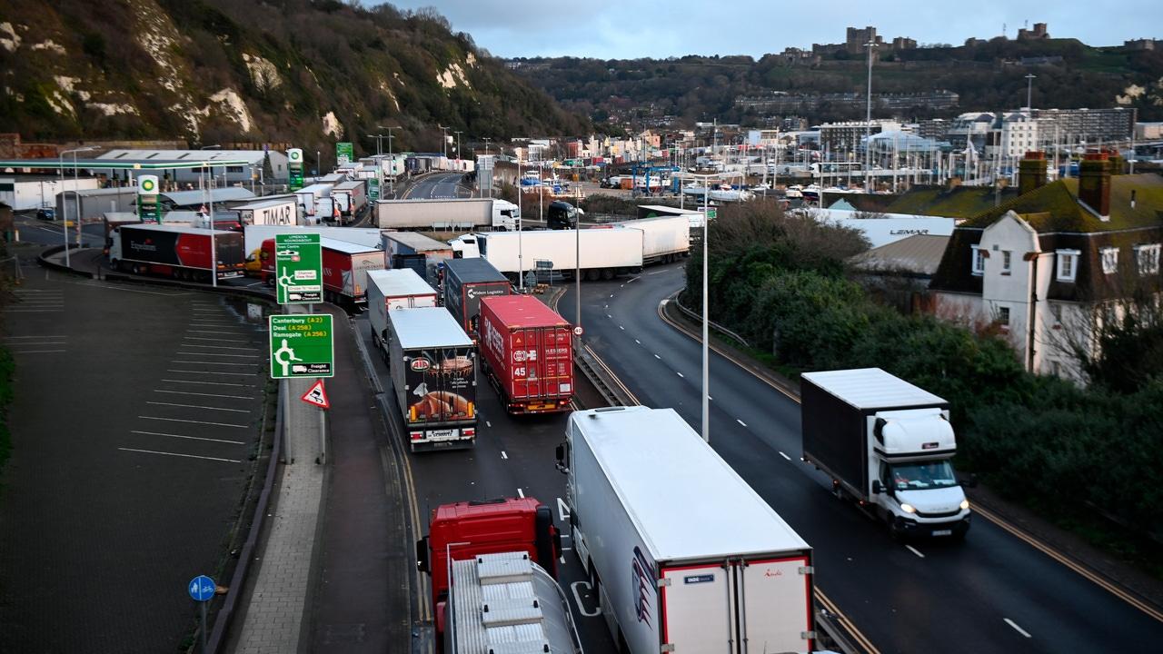 Los camioneros atrapados en Reino Unido