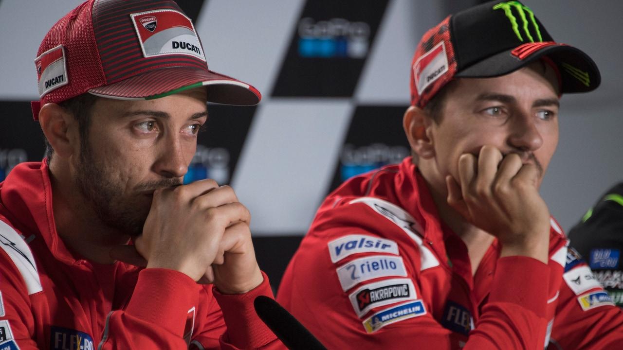Andrea Dovizioso y Jorge Lorenzo, en Ducati
