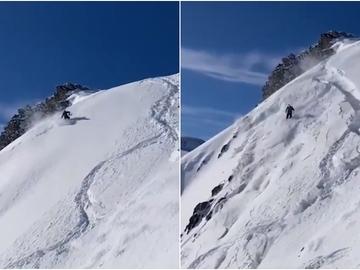 Un alud de nieve atrapa a un esquiador en Astún
