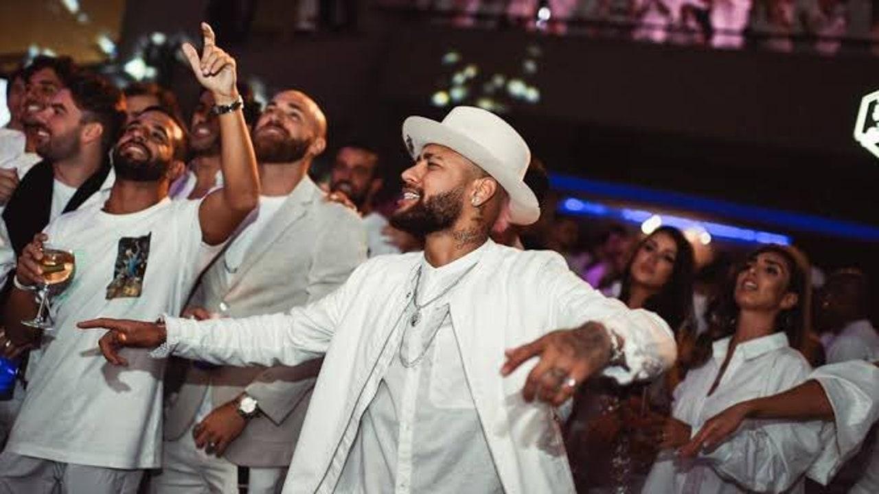 Imagen de la celebración de uno de los cumpleaños de Neymar