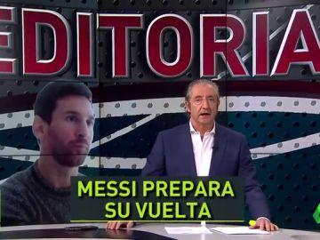 """Pedrerol, sobre Messi: """"Utilizó la entrevista para suavizar su marcha y preparar su regreso"""""""