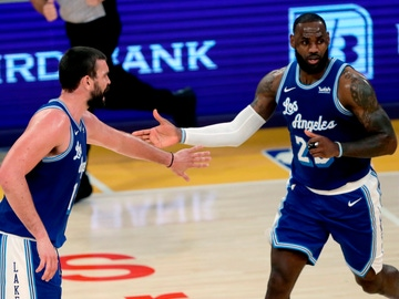 Marc Gasol y LeBron James