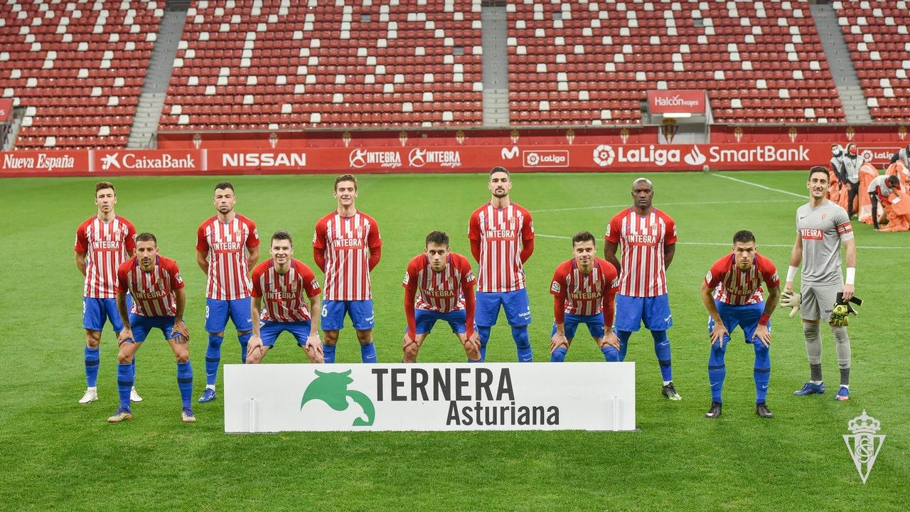 Jugadores del Sporting de Gijón