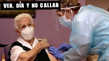 Araceli Hidalgo, primera vacunada en España contra el coronavirus