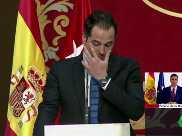 Las lágrimas de Ignacio Aguado al recordar a los fallecidos por COVID-19