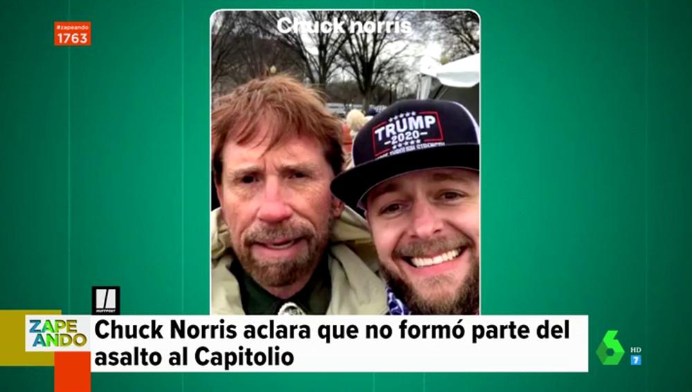 No, Chuck Norris no estuvo en el asalto al Capitolio: desmontamos la imagen viral