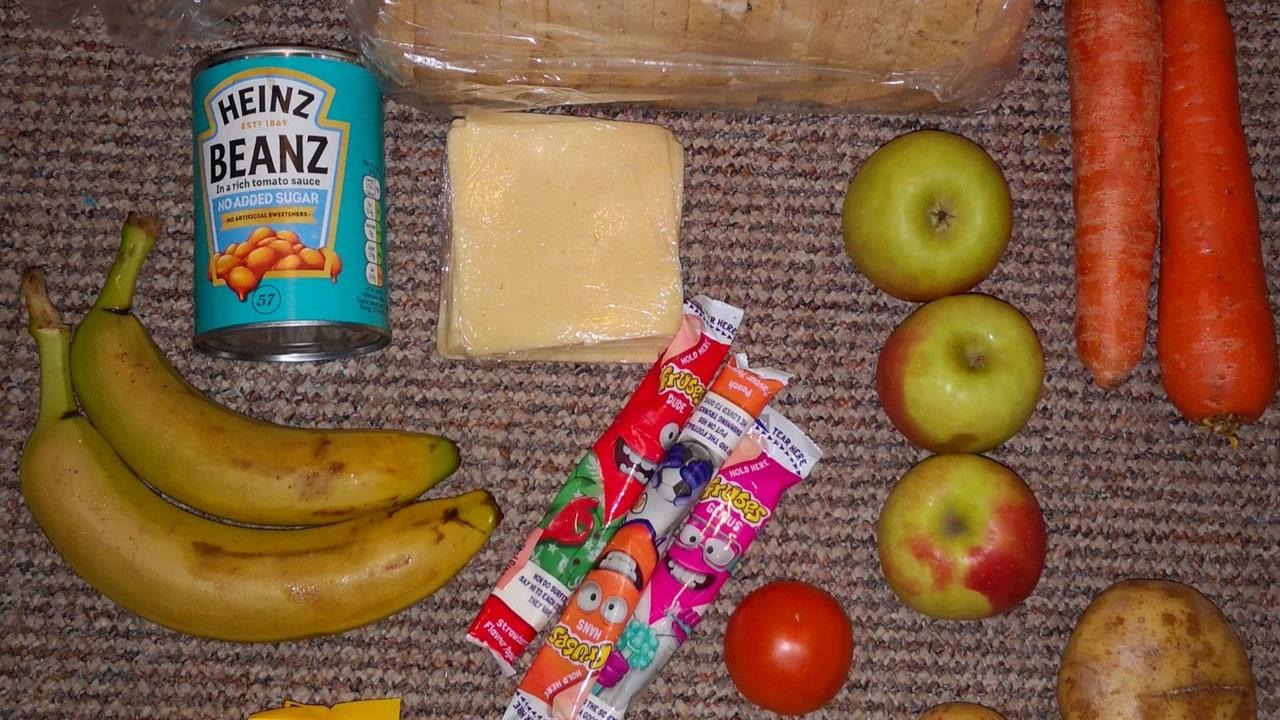 Algunas de las comidas otorgadas por el Gobierno a los niños necesitados