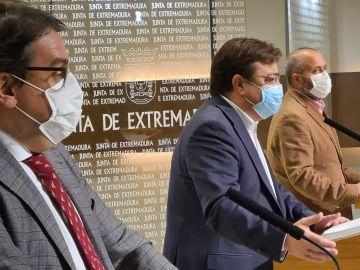 Comparecencia de la Junta de Extremadura para anunciar nuevas medidas restrictivas