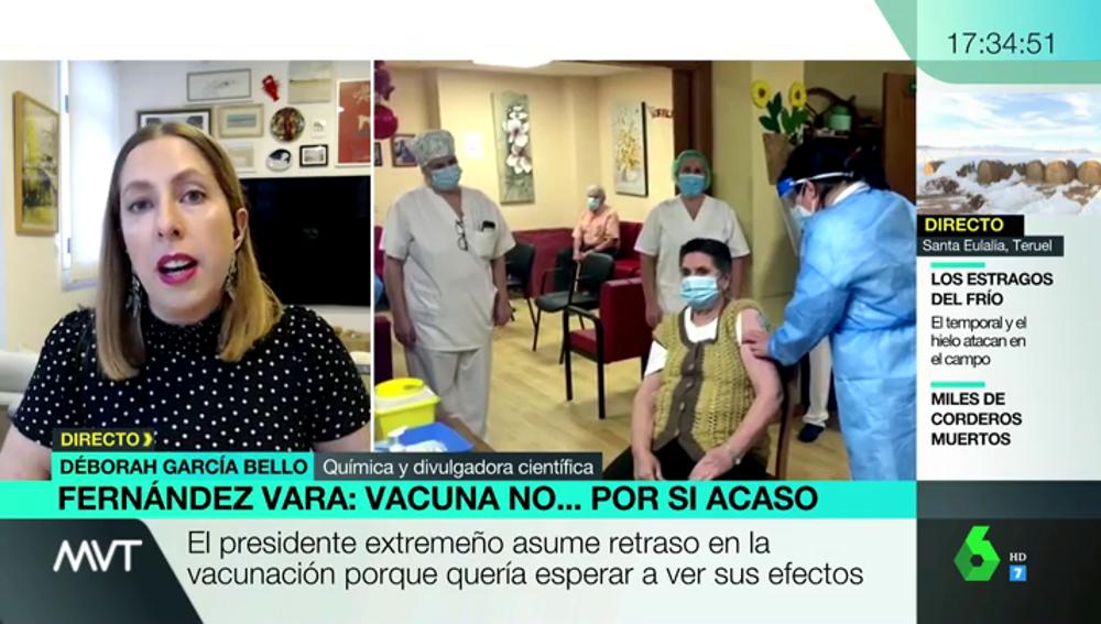 """La científica Deborah García Bello, """"indignada"""" con las declaraciones de Vara: """"Da a entender que usamos a ancianos como conejillos de indias"""""""