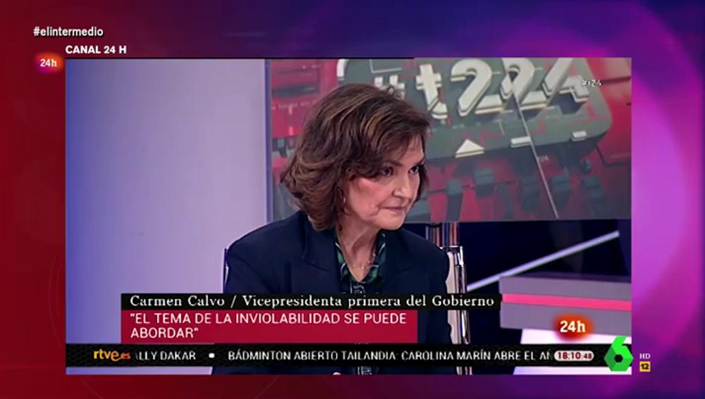 """Las """"curiosas"""" palabras de Carmen Calvo un día antes de conocerse que Patrimonio Nacional paga a los asistentes del emérito"""