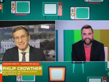 Philip Crowther, el reportero viral por su dominio de los idiomas, sorprende en directo a Zapeando hablando en catalán