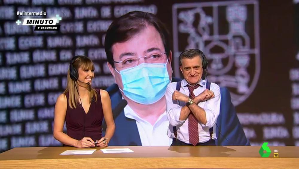La reacción de Wyoming con el 'hat-trick' de Guillermo 'Fernández-Bosé' sobre las vacunas del COVID