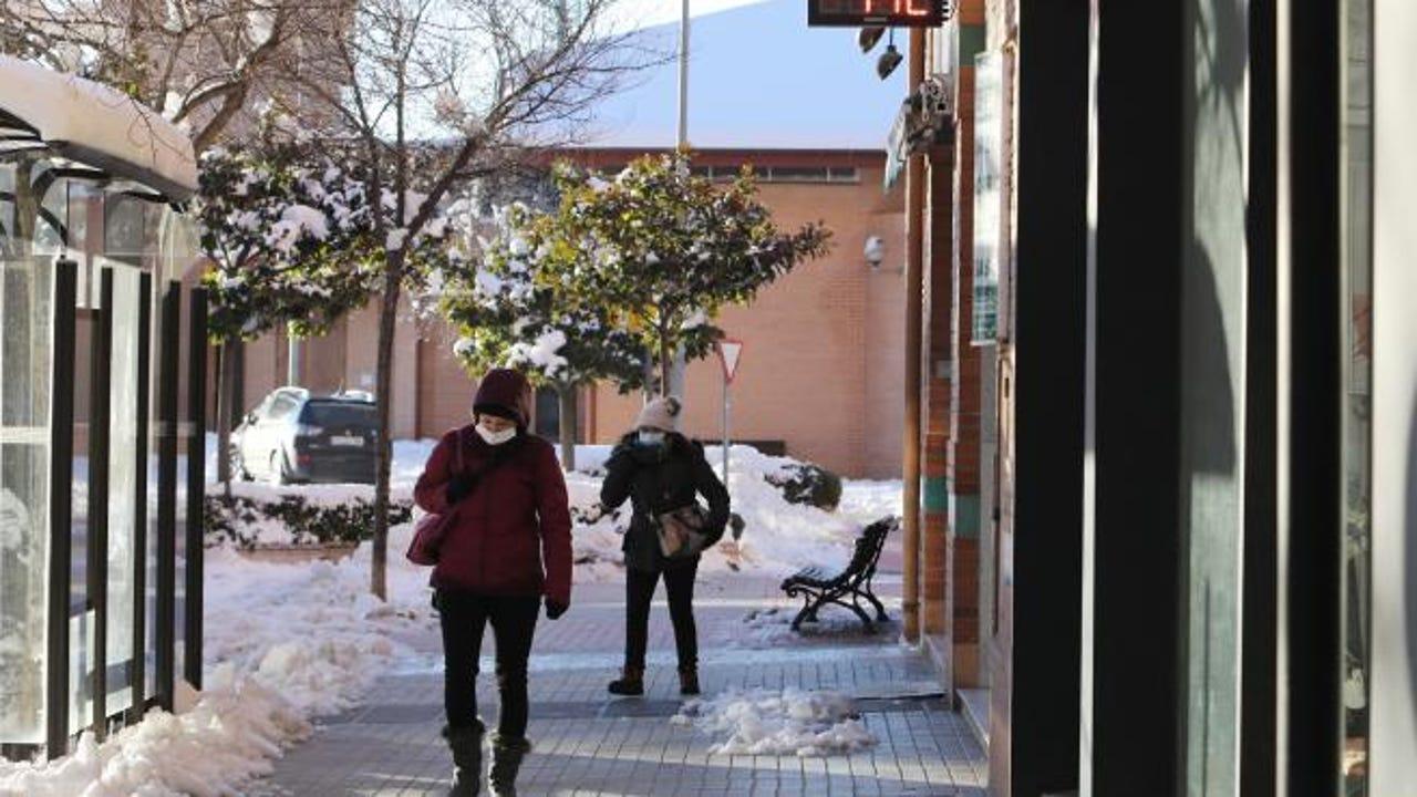 Nieve en las calles de Teruel