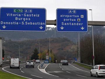 Las carreteras que conectan con las tres provincias en el País Vasco