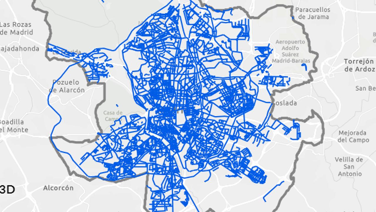 El mapa de Madrid en tiempo real de las calles limpias tras el paso de Filomena