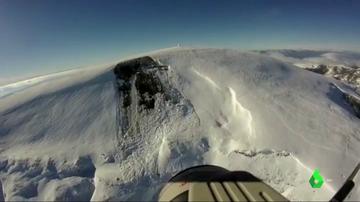 Imagen publicadas por la Ertzaintza de montañas con riesgo de aludes