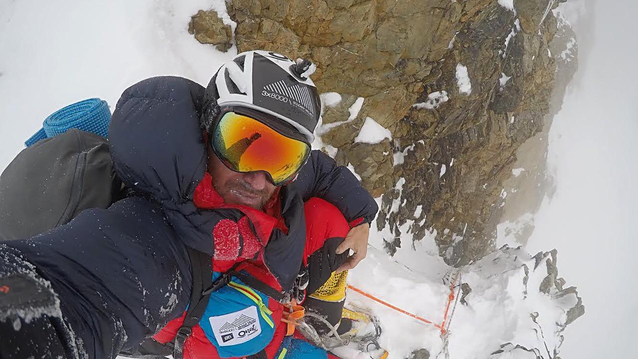 Sergi Mingote, en una escalada