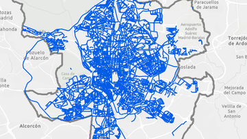 Mapa de las calles de Madrid tras Filomena