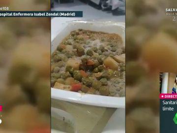 """Un paciente del Hospital Isabel Zendal recibe comida con moho: """"Eso no es congelado, es moho"""""""