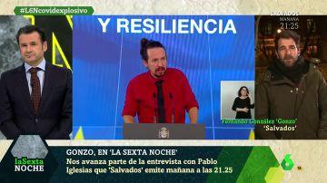 """Gonzo desvela la valoración de Iglesias sobre lo sucedido este último año: """"Dice que ya se espera ya cualquier cosa"""""""