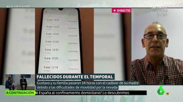"""Dos días con su madre muerta en casa durante el temporal en Madrid: """"Fue un problema de falta de medios y de gestión política"""""""