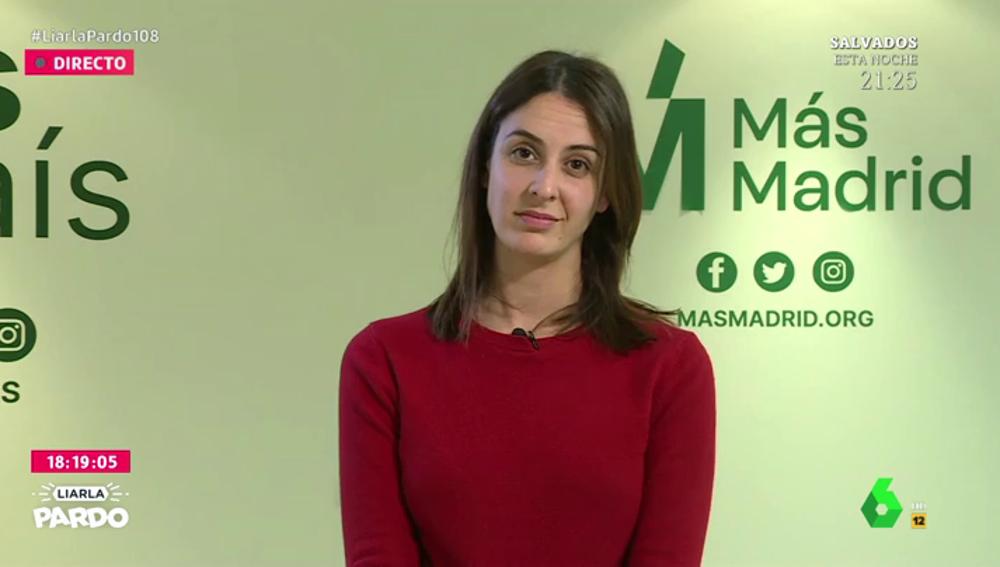"""Rita Maestre carga contra el Gobierno por el precio de la luz y pide más restricciones en Madrid: """"LasZonas Básicas de Salud no sirven para nada en la práctica"""""""