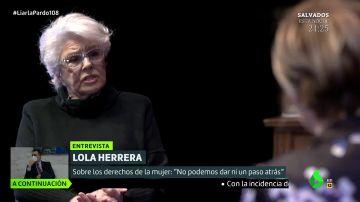 """El mensaje feminista de Lola Herrera: """"Tenemos que estar con los ojos muy abiertos porque hay voces que quieren retroceder"""""""