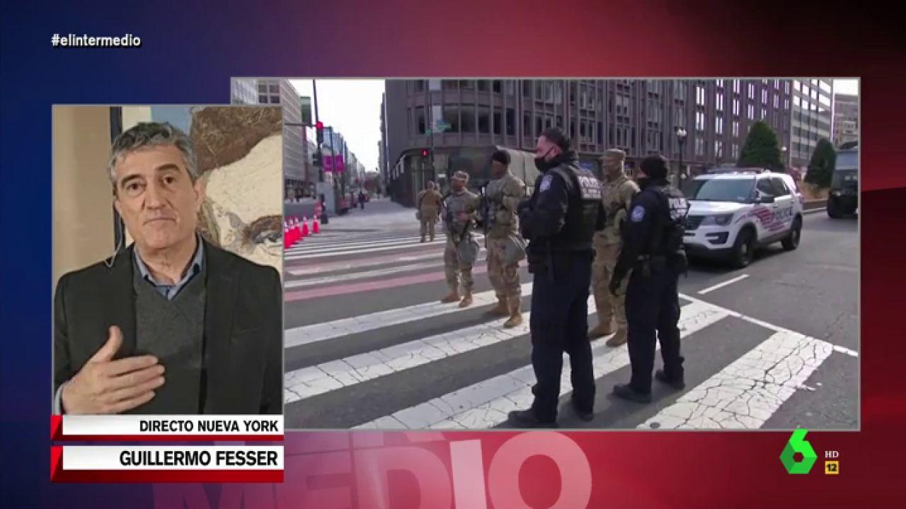"""Guillermo Fesser explica los preparativos para la toma de posesión de Biden: """"Esto parece una zona de guerra"""""""