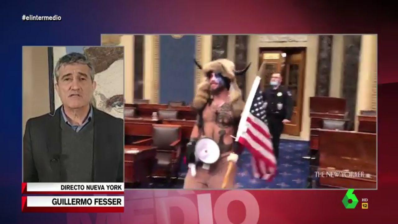"""El análisis de Fesser tras las nuevas imágenes del asalto al Capitolio: """"El FBI dice que gracias a dios la mayoría no son muy listos"""""""
