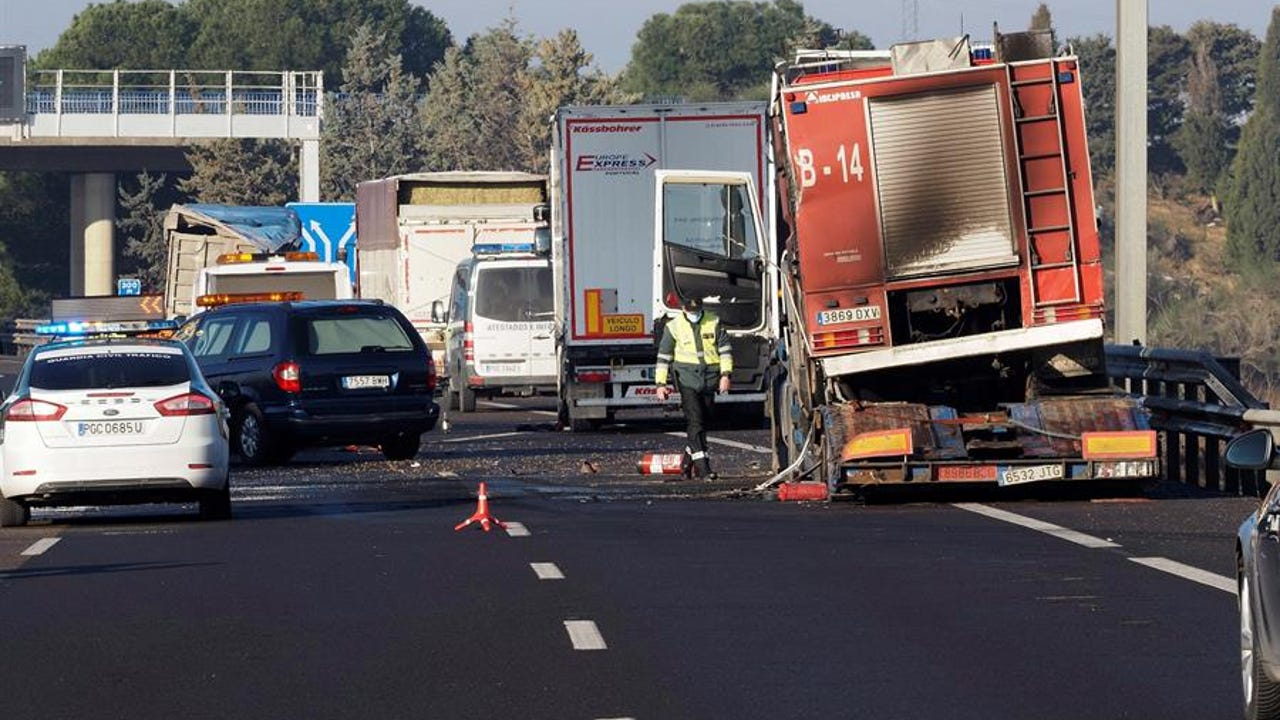El escenario del accidente en Tordesillas.