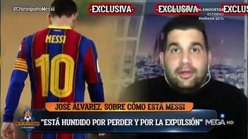 Messi está arrepentido, triste y hundido