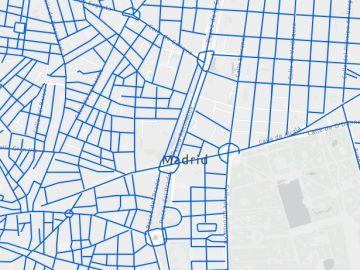 Estas son las calles de Madrid que están limpias de nieve