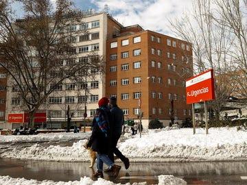 Vista del Hospital Clínico San Carlos en Madrid.