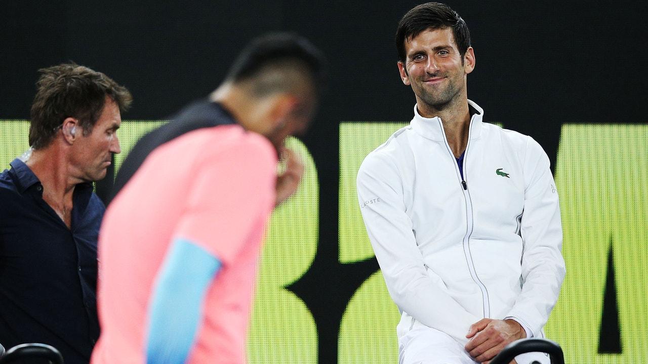 Nick Kyrgios y Novak Djokovic