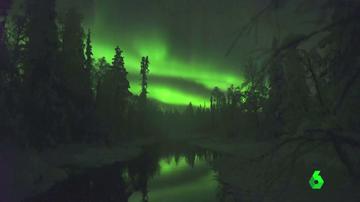 El mágico espectáculo de las auroras boreales en Finlandia