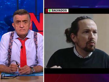 La reacción de Wyoming al escuchar a Iglesias comparar a Puigdemont con los exiliados del franquismo