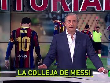 """Josep Pedrerol: """"La acción de Messi fue un gesto de rabia que nos tiene que hacer reflexionar a todos"""""""