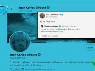 """Ay va, la guarra"": la respuesta de Girauta a la periodista Dina Dusseldorf tras llamarle ""fascista"""