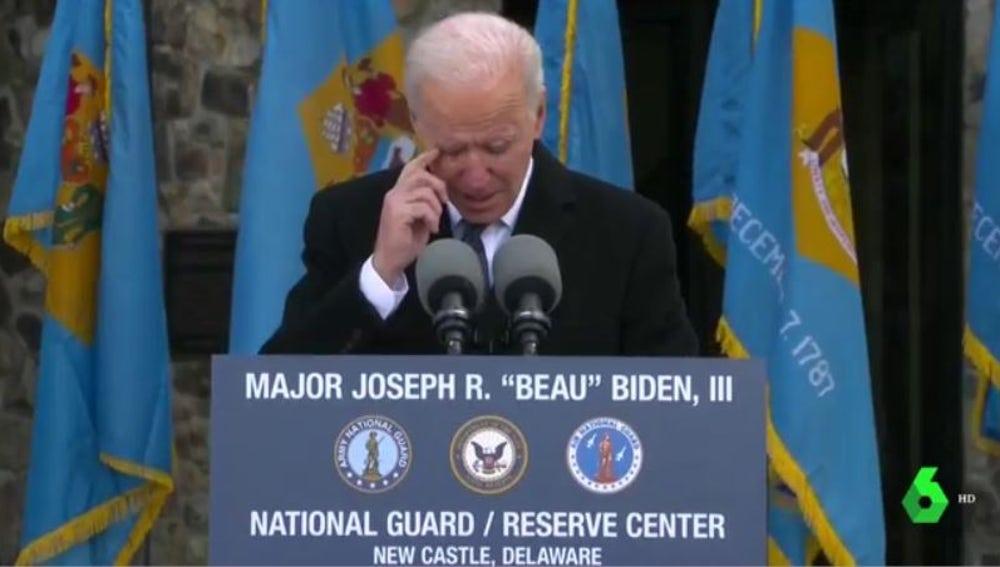 Joe Biden se emociona antes de abandonar Delaware