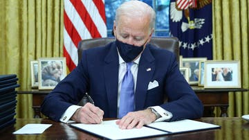 Joe Biden en el Despacho Oval