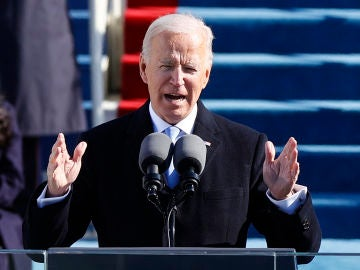 Biden, durante su discurso de investidura